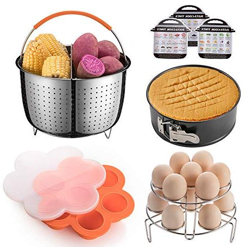 Pressure Accessories Set, Compatible Pot 6 and Includes Steam with Divider, Springform Bites Racks, Magnetic by