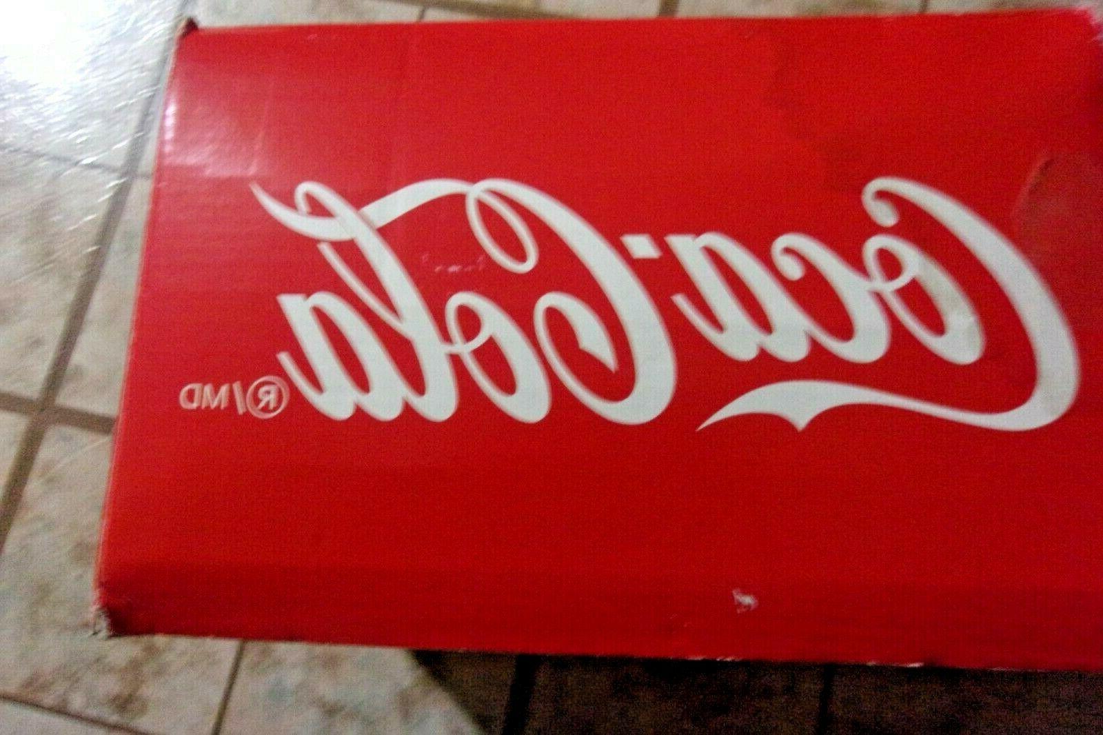 Red Cola Polar Bear Coke Mini Fridge Compact Refrigerator Retro