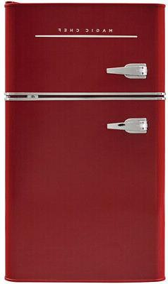 Magic Chef Retro Mini Refrigerator 3.2 cu. ft. 2-Door Fridge