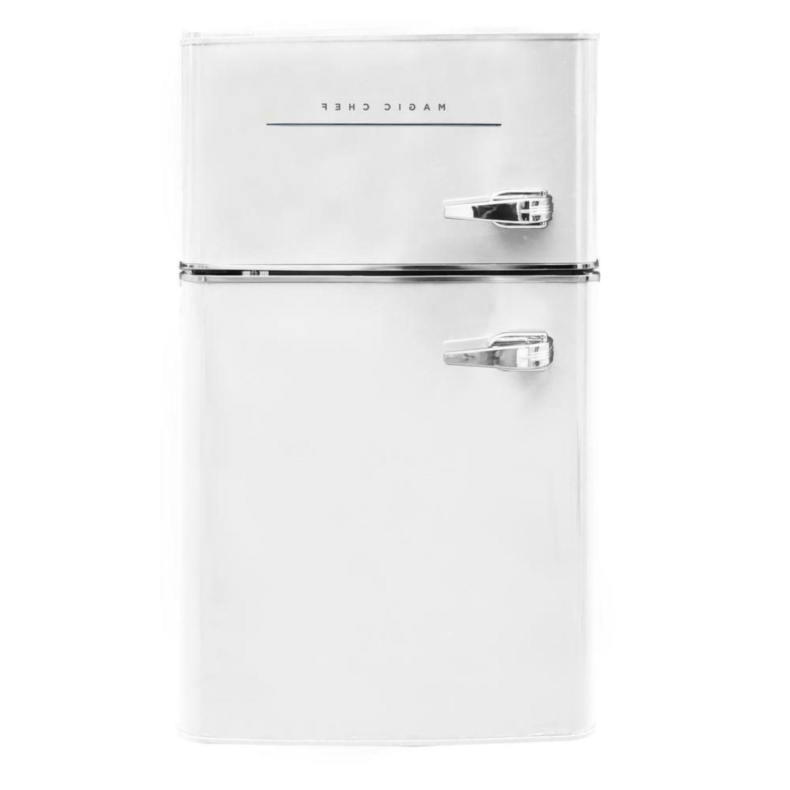 retro white mini fridge freezer refrigerator 3