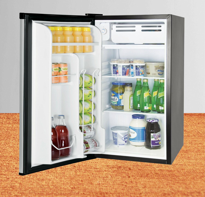 Single Door Mini 3.2 Refrigerators with Freezers Black New