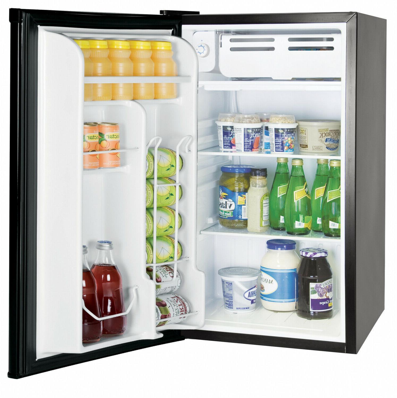 Single Door Mini 3.2 Refrigerators with Freezers Black