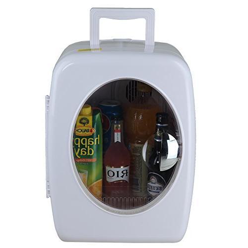 SMETA Fridge Mini Beverage Milk Food Warmer for Camping,15L,White