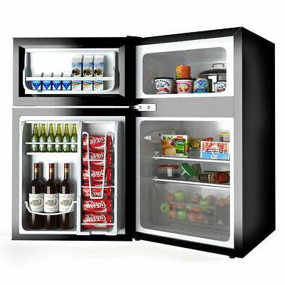 Stainless Steel Refrigerator Freezer Cooler Fridge 3.2 cu Unit