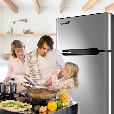 Stainless Refrigerator Freezer 3.2 cu