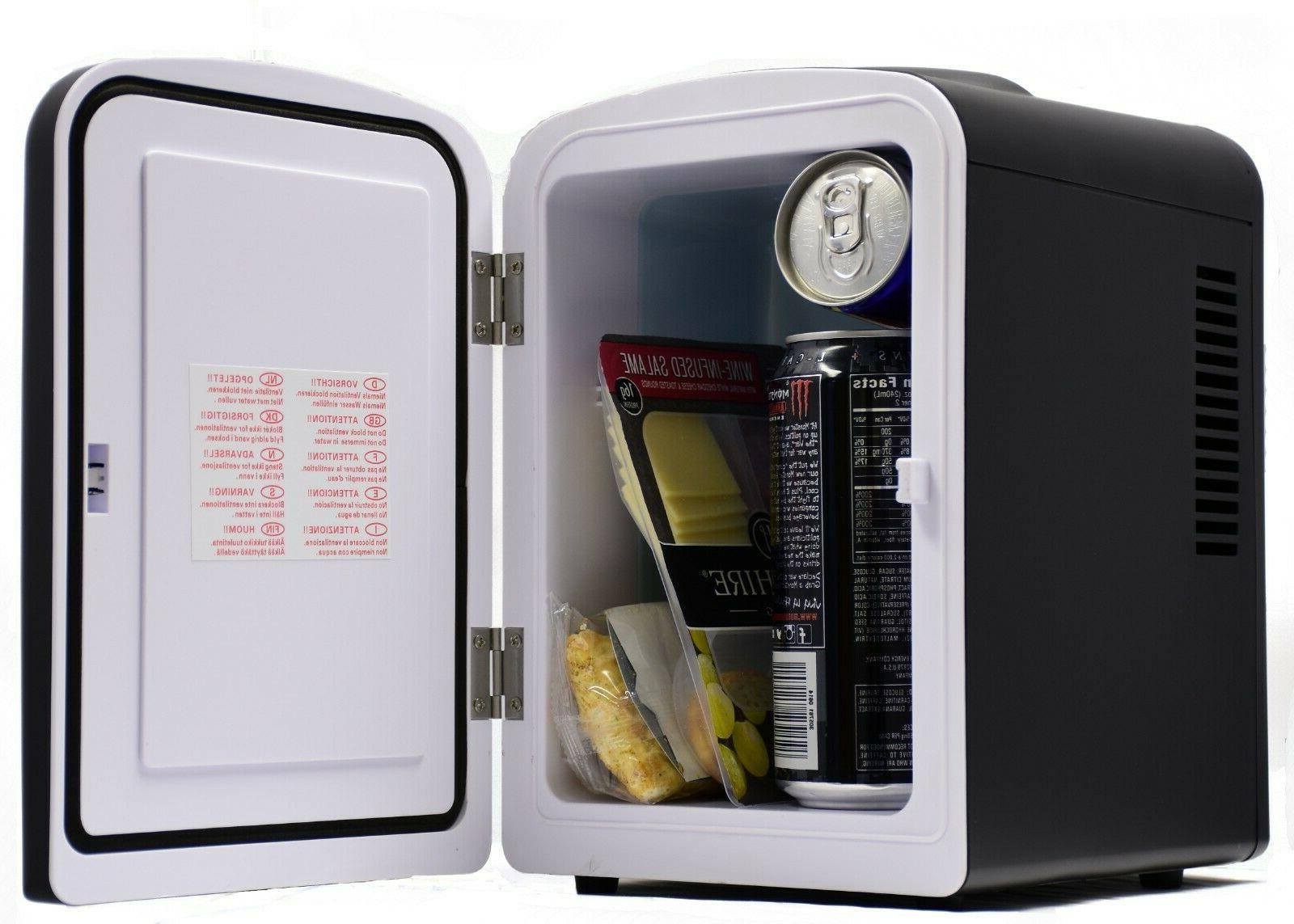 Uber UB-CH1 Portable 6 Can Cooler/Warmer Fridge Black