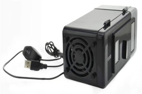 USB Mini Fridge USB Operated Portable Mini with Cooling Heat
