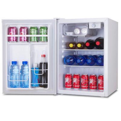 White Compact Refrigerator & Mini Freezer, Fridge
