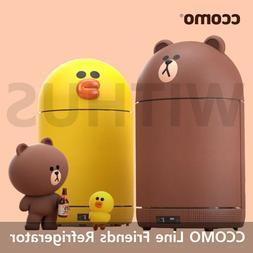Line Friends Mini Refrigerator with Bluetooth Speaker Brown&