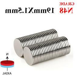 Lot 19x1.5mm N48 Round Disc Neodymium Mini Fridge Magnets Ra