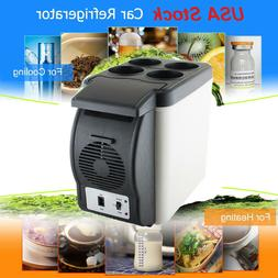 Mini 6L Refrigerator Fridge Portable Travel Auto Car Freezer