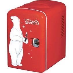 mini coca cola can countertop fridge compact
