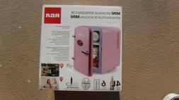 RCA Mini Compact Beverage Refrigerator, Pink, Great for keep