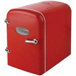 mini compact refrigerator red