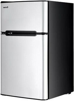 Costway Mini Fridge 3.2 cu. ft. Small Freezer Cooler Fridge