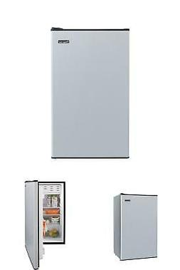 Mini Fridge 3.3 cu. ft. Stainless Look Compact Size Home Off