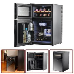 Mini Fridge 8x Bottle Wine Cooler Refrigerator 2x Thermostat