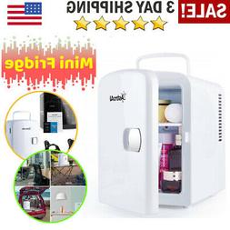 Mini Fridge Portable Thermoelectric Cooler Home Travel Skinc