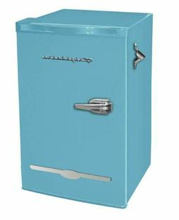 Mini Fridge Retro Blue 3.2 cu ft Home Dorm Basement Patio Co