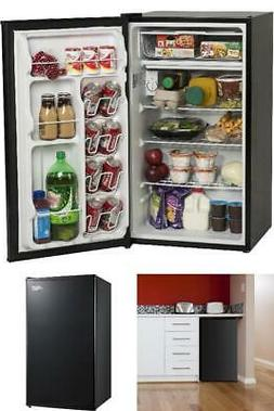 Mini Fridge Single Door 3.3 Cu Ft Adjustable Thermostat Kitc