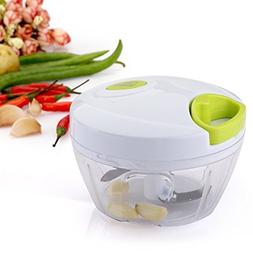 Uten 2-3 Cup Mini Handheld Food Chopper Vegetable Mincer wit