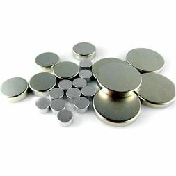 Mini Neodymium N50 Silver Disc Magnets - Tiny NdFeb Strong F