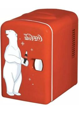 Mini Refrigerator Coca-Cola Koolatron Desktop Electric 6-Can
