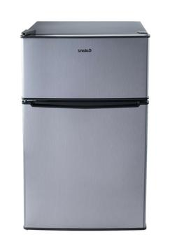 Mini Refrigerator Freezer Two Doors Stainless Steel Dorm Off