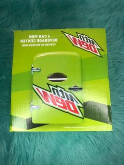 Mountain Dew 6 Can Mini Refrigerator Fridge Beverage Center