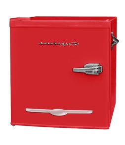 New 1.6 Cu. Ft. Red Retro Mini Fridge Compact Refrigerator O