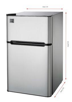 New 3.2 Cu. Ft. Compact Mini Fridge Two Door Refrigerators F