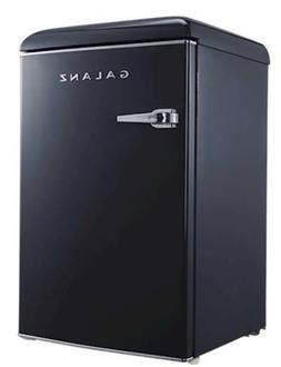 New 4.4 Cu Ft Black Retro Mini Fridge Refrigerator Cooler Of