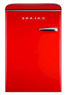 New 4.4 Cu Ft Red Retro Mini Fridge Refrigerator Cooler Offi
