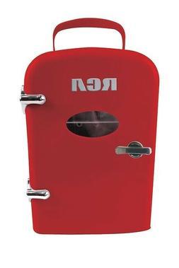 NEW RCA Mini Beverage Refrigerator Fridge 6-Can RED Home & C
