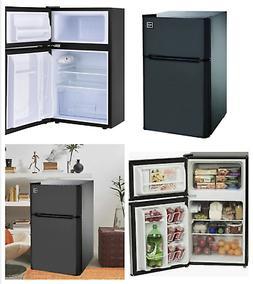 New Mini Two 2 Door Fridge Compact Refrigerator with Freezer