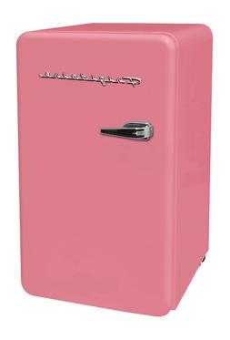 New Pink 3.2 Cu. Ft. Retro Mini Fridge Compact Refrigerators
