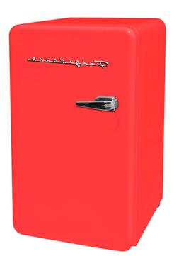 New Red 3.2 Cu. Ft. Retro Mini Fridge Compact Refrigerators