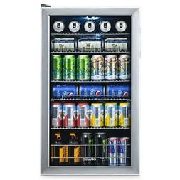 NewAir Beverage Cooler Fridge 19 in. 126-Can Freestanding St