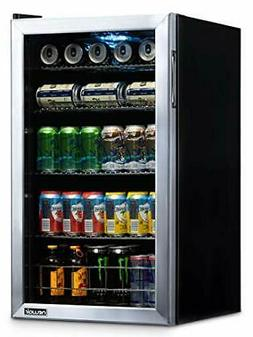 NewAir NBC126SS02 Beverage Refrigerator and Cooler, Holds up