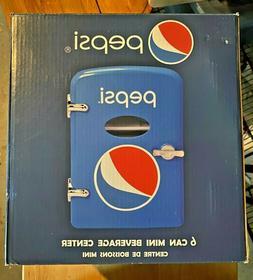 Pepsi 6 Can Cooler/Mini Fridge - Car/Wall Plug In Option NEW