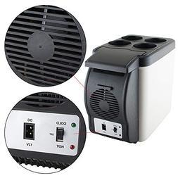 6L Portable Car Refrigerator Fridge Portable Travel Cooler W