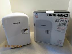 Chefman Portable Compact Personal Fridge Cools & Heats 4 Lit