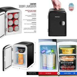 Portable Compact Personal Fridge Cools Warms 4 Liter Capacit