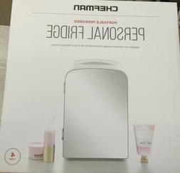 ✅ CHEFMAN Portable Mirrored Personal Fridge - White
