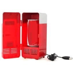 Generic Portable Red USB Mini Fridge with Dual Usage Heat Co