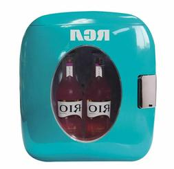 portable retro 12 can mini fridge 9l