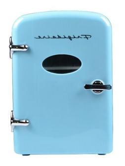Frigidaire Portable Retro 6-can Mini Fridge EFMIS129, Blue