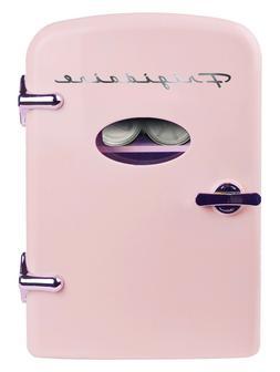 Frigidaire Portable Retro 6-can Mini Fridge EFMIS129, Pink,