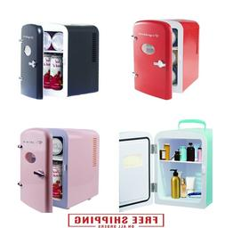 Portable Retro 6-can Mini Fridge Office Personal Portable Ca