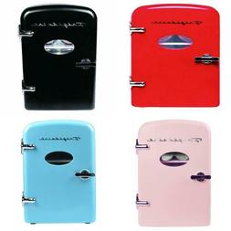 Portable Retro Cool Personal Mini Fridge Refrigerator Compac